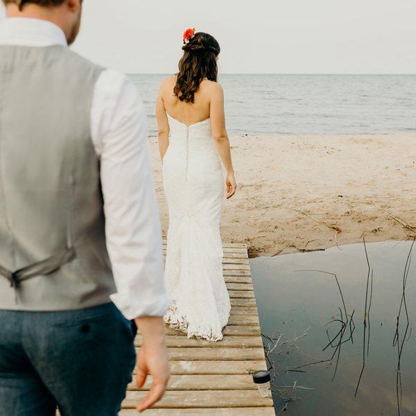 Lake Huron Camp Wedding // Leigh + Steve